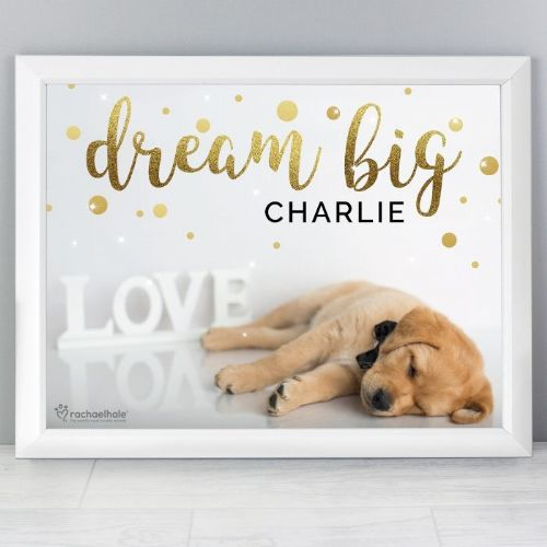 Personalised Rachael Hale Dream Big White Framed Poster Print